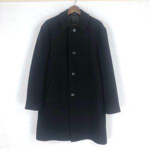 Perry Ellis Portfolio Black Wool Blend Coat Sz 40R